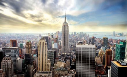 New York City skyline paper wallpaper